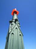 Torre del ferro con il cono d'avvertimento Immagine Stock