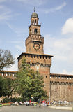 Torre del Filarete of the Sforza Castle in Milan. Lombardy. Italy Stock Photo