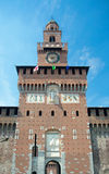 Torre del Filarete (1452), Sforza-Kasteel, Milaan, Italië Stock Foto's