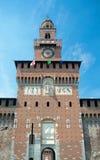 Torre Del Filarete, Sforza kasztel, Mediolan, Włochy (1452) Zdjęcia Stock