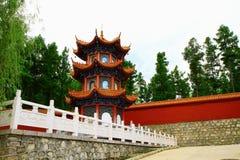 Torre del fondatore del tempio- di Mudanjiang Yuantong per la c Fotografia Stock Libera da Diritti