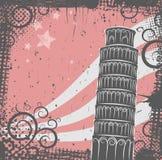 Torre del fondo de Pisa stock de ilustración