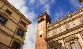 Torre del Gardello and Palazzo Maffei, Verona Stock Images