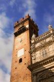 Torre del Gardello and Palazzo Maffei, Verona Royalty Free Stock Photography