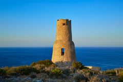 Torre del Gerro tower in Denia of Alicante royalty free stock images