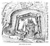 Torre del grabado de Londres Foto de archivo libre de regalías