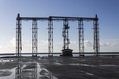 Torre del grano di caricamento della nave Immagine Stock Libera da Diritti