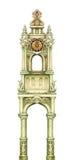 torre del Hada-cuento aislada en blanco Ilustraciones del gráfico del Watercolour Foto de archivo libre de regalías
