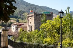 Torre del Infantado in Potes, Cantabria, Spain royalty free stock images