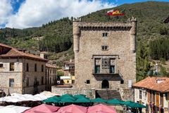 Torre del Infantado in Potes, Cantabria, Spain royalty free stock image