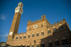 Torre del Mangia à Sienne, Italie Photographie stock