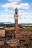 Torre del Mangia в Сиене Италии Стоковые Фото
