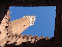 Torre del Mangia photos libres de droits