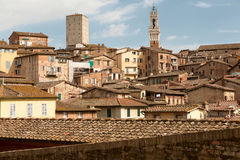 Torre del Mangia in the centre of Siena. Tuscany, Italy. Royalty Free Stock Photography