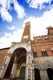 Torre del Mangia and the Chapel Royalty Free Stock Photo