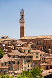 Torre del Mangia cityscape Royalty Free Stock Images