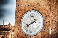 Torre del Mangia clock in Siena Royalty Free Stock Photo