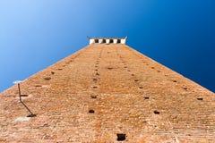 Torre Del Mangia ist ein Turm in Siena, Italien lizenzfreie stockfotos
