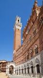 Torre del Mangia, Oker Royalty-vrije Stock Foto's