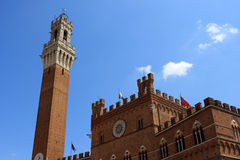 Torre del Mangia and Palazzo Pubblico, Siena Royalty Free Stock Photos
