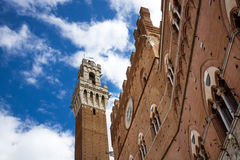 Torre del Mangia and Palazzo Pubblico, Siena Royalty Free Stock Image