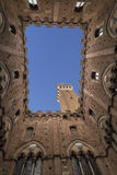 Torre del Mangia  Piazza del Campo in Siena,  Italy Stock Photo