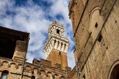 Torre del Mangia, Siena fotografia stock libera da diritti