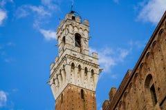 Torre del Mangia, Siena, dettaglio immagine stock