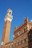 Torre del Mangia, Siena, Italië Royalty-vrije Stock Foto