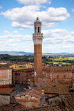 Torre del Mangia in Siena Italy Stock Photos