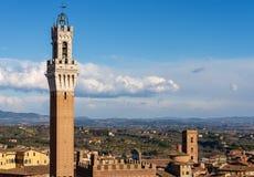 Torre del Mangia - Siena Toscana Italy Royaltyfria Bilder