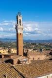 Torre del Mangia - Siena Toscana Italy Fotografering för Bildbyråer