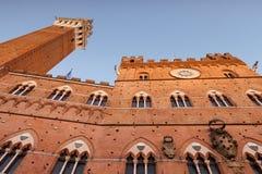 Torre Del Mangia, Siena, Toscanië, Italië Royalty-vrije Stock Foto