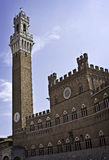 The Torre Del Mangia Sienna Italy Stock Photo