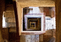 Torre del Mangia stairs Royalty Free Stock Image
