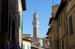 Torre del Mangia, Tuscany, Siena, Italy Stock Images