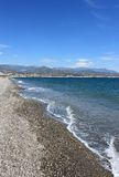 海滩Torre Del Mar 库存照片