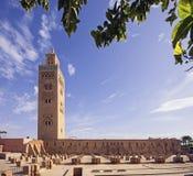 Torre del minareto di Koutoubia Fotografia Stock Libera da Diritti