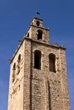 Torre del monasterio del romanesque de Sant Cugat, Barcelona Imagen de archivo
