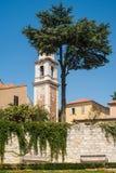 Torre del monastero della st Francis Assisiin, Zadar fotografia stock