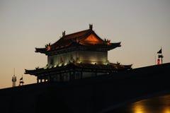 Torre del muro di cinta antico di Xian, Cina Fotografie Stock Libere da Diritti