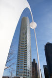 Torre del museo en Dallas foto de archivo