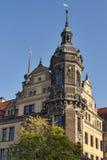 Torre del museo verde de la cámara acorazada en Dresden, Alemania Foto de archivo