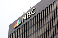 Torre del NBC de San Diego en un día nublado Imágenes de archivo libres de regalías