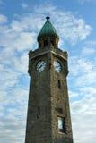 Torre del nivel del agua en Hamburgo Fotos de archivo libres de regalías