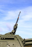 Torre del obús automotor ruso con los armamentos Fotografía de archivo libre de regalías
