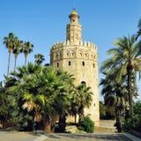Torre del Oro在塞维利亚,西班牙 免版税库存照片