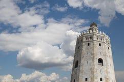 Torre del Oro ή χρυσός πύργος (13ος αιώνας), Σεβίλη, Ανδαλουσία, νότια Ισπανία Στοκ Εικόνες