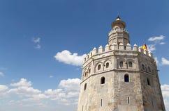 Torre del Oro ή χρυσός πύργος (13ος αιώνας), Σεβίλη, Ανδαλουσία, νότια Ισπανία Στοκ εικόνες με δικαίωμα ελεύθερης χρήσης