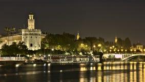 Torre del oro, Σεβίλη, Ανδαλουσία, Ισπανία Στοκ φωτογραφίες με δικαίωμα ελεύθερης χρήσης